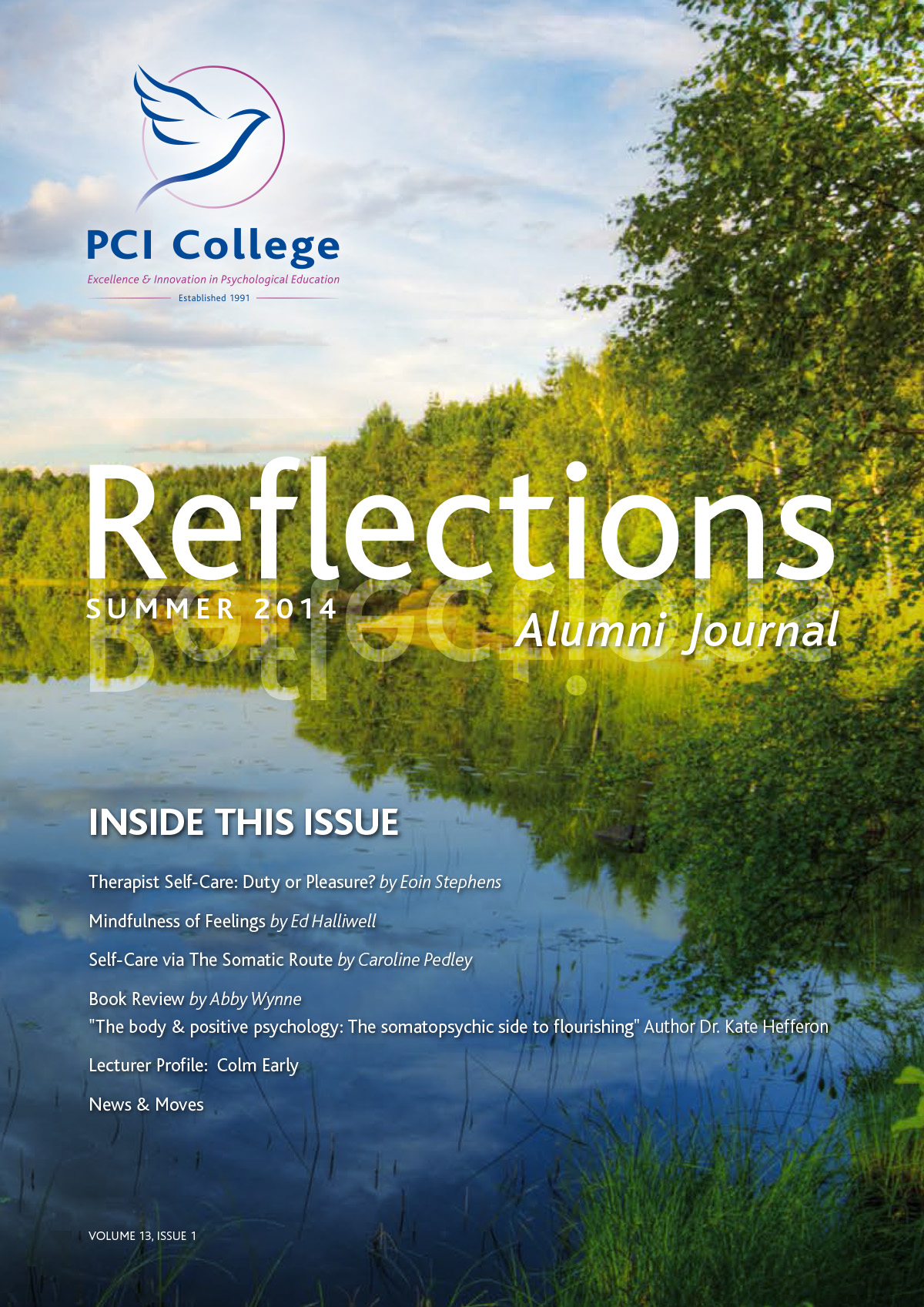 PCI College Reflections Newsletter Summer 2014